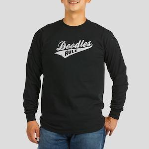 Doodles Rule Long Sleeve Dark T-Shirt