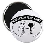 Ninja Pirate Peace Summit Magnet