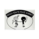 Ninja Pirate Peace Summit Rectangle Magnet (100 pa