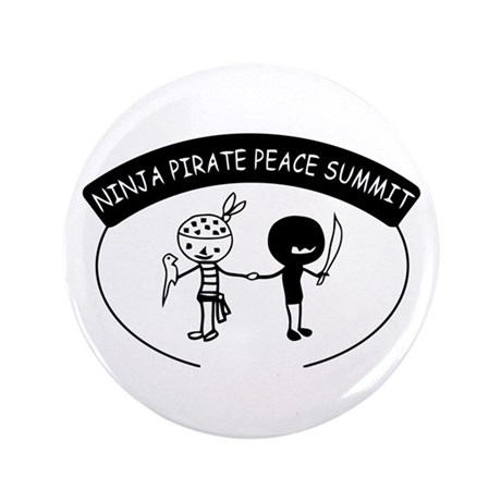 "Ninja Pirate Peace Summit 3.5"" Button (100 pack)"