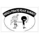 Ninja Pirate Peace Summit Large Poster