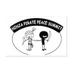 Ninja Pirate Peace Summit Mini Poster Print