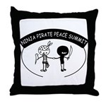 Ninja Pirate Peace Summit Throw Pillow