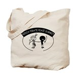 Ninja Pirate Peace Summit Tote Bag