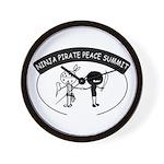 Ninja Pirate Peace Summit Wall Clock