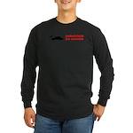 Pedestrains Are Assholes Long Sleeve Dark T-Shirt
