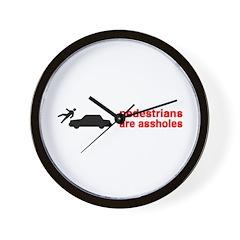 Pedestrains Are Assholes Wall Clock