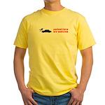 Pedestrains Are Assholes Yellow T-Shirt