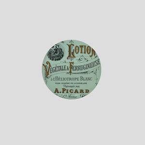 French Cosmetic Label antique Mini Button