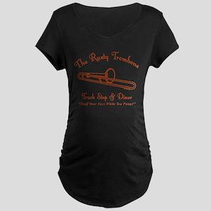 Rusty Trombone Maternity Dark T-Shirt