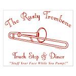 Rusty Trombone Small Poster
