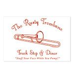 Rusty Trombone Postcards (Package of 8)