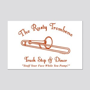 Rusty Trombone Mini Poster Print