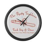 Rusty Trombone Large Wall Clock