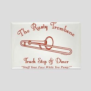 Rusty Trombone Rectangle Magnet
