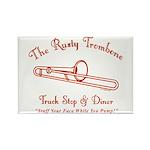 Rusty Trombone Rectangle Magnet (100 pack)