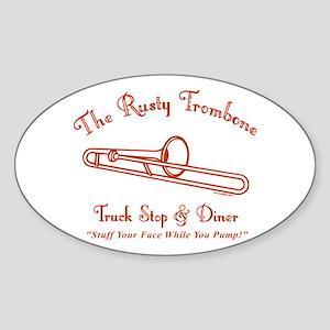 Rusty Trombone Sticker (Oval)