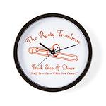 Rusty Trombone Wall Clock