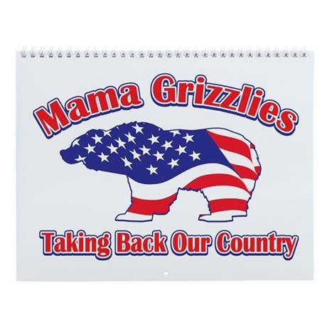 Mama Grizzlies Wall Calendar