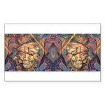 African art Rectangle Sticker