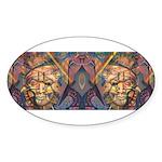 African art Oval Sticker