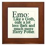 Emo: Like a Goth Framed Tile
