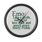 Emo: Like a Goth Large Wall Clock
