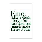 Emo: Like a Goth Mini Poster Print