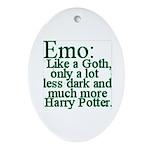 Emo: Like a Goth Ornament (Oval)