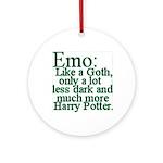Emo: Like a Goth Ornament (Round)