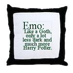 Emo: Like a Goth Throw Pillow
