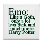 Emo: Like a Goth Tile Coaster