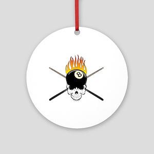 Skull Billiards Ornament (Round)