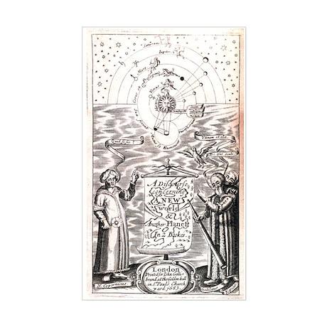 Antique Astronomy Sticker (Rectangle)