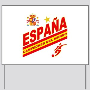 Spain World cup champions Yard Sign