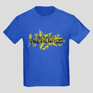 I ROCK THE S#%! - FIREFIGHTING Kids Dark T-Shirt