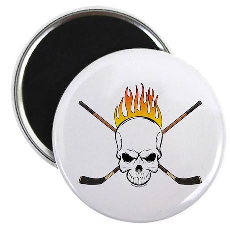 """Skull Hockey 2.25"""" Magnet (10 pack)"""