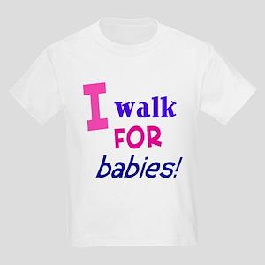 I walk for babies Kids Light T-Shirt
