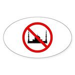 No Mosque Sticker (Oval 50 pk)