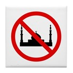 No Mosque Tile Coaster