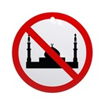 No Mosque Ornament (Round)
