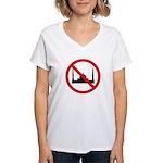 No Mosque Women's V-Neck T-Shirt