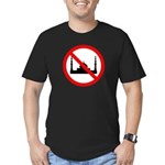 No Mosque Men's Fitted T-Shirt (dark)