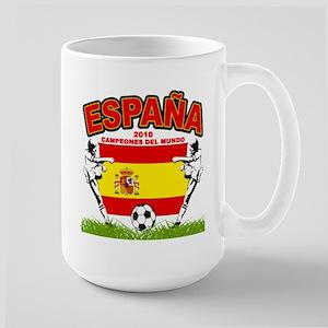 Spain World cup champions Large Mug