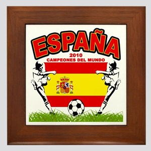 Spain World cup champions Framed Tile