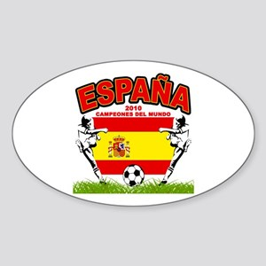 Spain World cup champions Sticker (Oval)