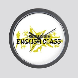 I ROCK THE S#%! - ENGLISH CLASS Wall Clock