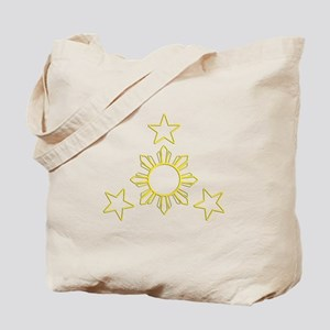 Outlined Sun & Stars Tote Bag