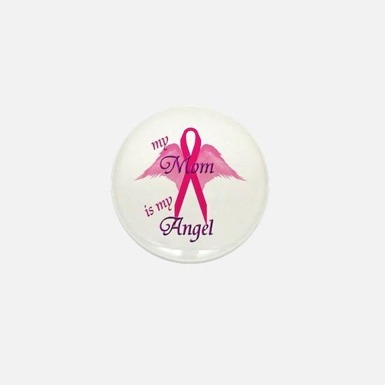 Cute Breast cancer mom Mini Button
