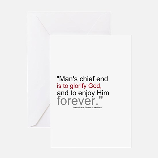 Chief End of Man Greeting Card